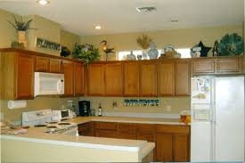Corner Kitchen Cabinet Decorating Ideas by Home Decor Above Cabinet Decorating Ideas Lighting For Small