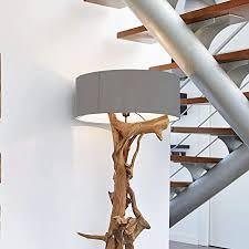 stehle treibholz bluma designer teak le rustikal xl groß teakholz mit zertifikat holzfuß driftwood unikat in handarbeit höhe 180 cm