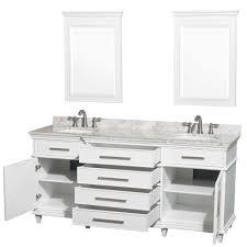 Windsor 22 Narrow Depth Bathroom Vanity by Avola Windsor 72 Inch Classic White Finish Double Sink Bathroom