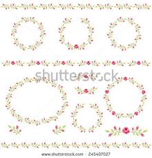 Shabby Chic Wallpaper Border With Roses In Style