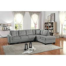 Poundex Reversible Sectional Sofa by Articles With Bobkona Reversible Chaise Sectional Tag Amusing
