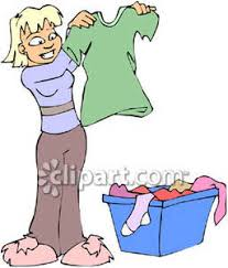 Girl Folding Clean Clothes