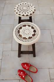 Plastic Seat Covers For Dining Room Chairs by Best 25 Stool Covers Ideas On Pinterest Stool Cover Crochet