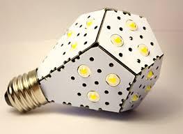 nanolight folded omnidirectional led light bulb that produces