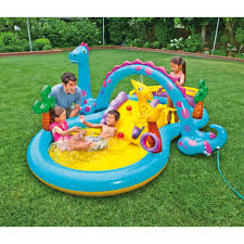 Inflatable Bath For Toddlers by Intex Dinoland Play Center Swimming Pool Walmart Com