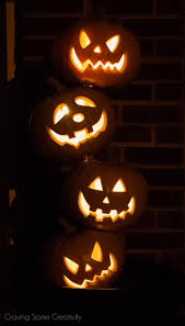 Drilled Pumpkin Designs by Halloween Stacked Pumpkin Topiary Craving Some Creativity