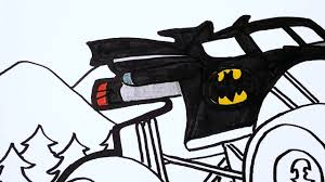 Batman Monster Truck Coloring Pages ¦ Watch How To Draw Batman ...