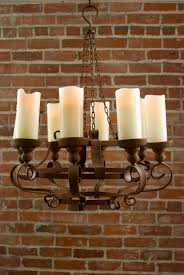 Rustic Dining Room Light Fixtures by Rustic Chandeliers With Battery Powered Led Candles No Power