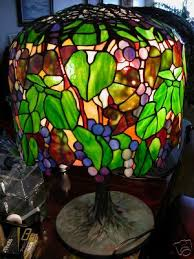 sold tiffany vintage grapes stained glass l tiffany outlets