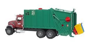 Bruder - MACK Granite Garbage Truck (Red/Green), 70 Cm | PlayOne