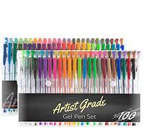 Set Of 100 Gel Pen By Artist Grade