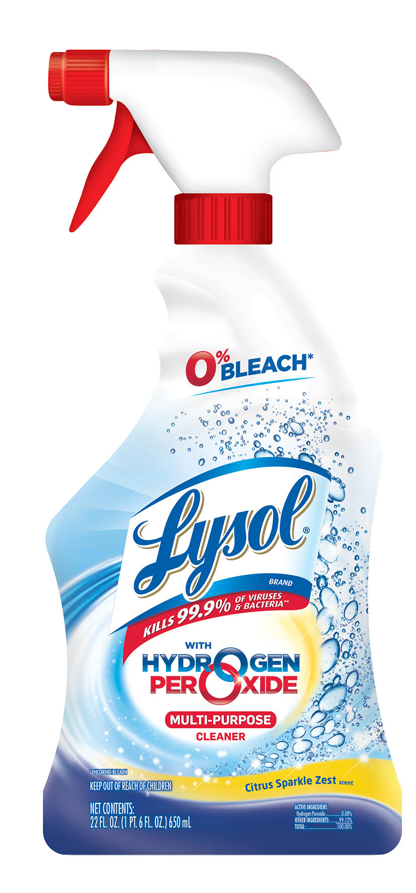 Lysol Power & Free Multi-Purpose Clearner - Citrus Sparkle Zest