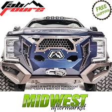 100 Truck Bumpers Aftermarket Fab Fours Grumper Matte Black For 2017 2018 Ford F250 F350