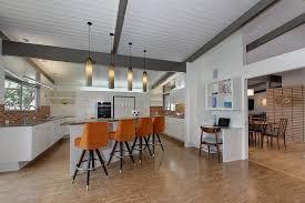 mid century modern kitchen cabinets ceramic tile white ceramic