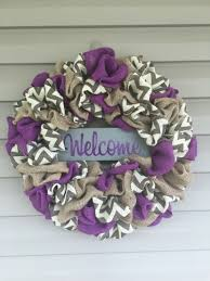 Burlap Mardi Gras Door Decorations by Purple Burlap Chevron Wreath My Wreaths Pinterest Burlap