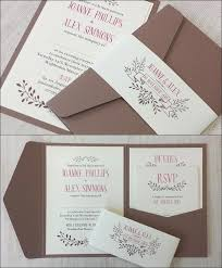 Handmade Wedding Invitations Ebay Uk Secret Pocket Invitation Hand Made