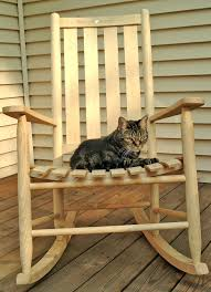 Wood Project: Youth Rocking Chair Plans