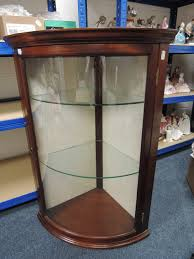 StorageCorner Glass Cabinet Display With Doors Wall Case