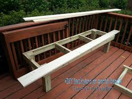 exterior minimalist design ideas in building a wooden bench for