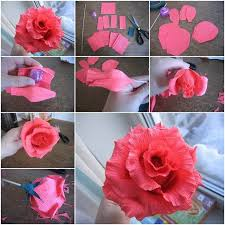 How To Make Crepe Paper Pretty Flowers Step By