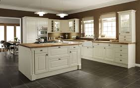 Kitchen Cream Cabinets Elegant Cabinet With Dark Countertops