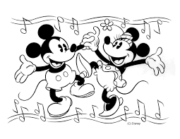 Minnie Mouse And Mickey Coloring Pages