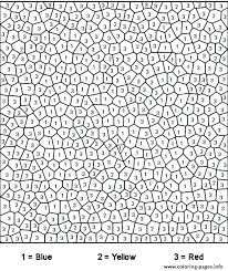 Free Color By Number Numbers Coloring Pages Printable Difficult Best Adult