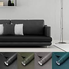 lc team möbelfolie selbstklebend lederfolie schwarz klebefolie möbel wandtapete wohnzimmer aus pvc 45x200cm wasserfest ohne geruch lederoptik