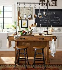 M Pottery Barn Kitchen Decor Distressed White Paint Finish Decorative Stainless Steel Island Seating Mesmerizing Stools Houzz