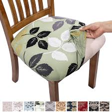 Comqualife Stretch Printed Dining Chair Seat Covers, Removable Washable  Anti-Dust Upholstered Chair Seat Cover For Dining Room, Kitchen, Office  (Set ... Chenille Ding Chair Seat Coversset Of 2 In 2019 Details About New Design Stretch Home Party Room Cover Removable Slipcover Last 5sets 1set Christmas Covers Linen Regular Farmhouse Slipcovers For Chairs Australia Ideas Eaging Fniture Decorating 20 Elegant Scheme For Kitchen Table Ding Room Chair Covers Kohls Unique Bargains Washable Us 199 Off2019 Floral Wedding Banquet Decor Spandex Elastic Coverin