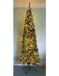 7ft Slim Led Christmas Tree by Buy Slim U0026 Pre Lit Slimline Artificial Christmas Trees