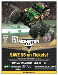 100 Monster Truck Verizon Center Jam Returns To Capital One Arena With Three LargerThan