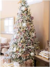 9 Ft Flocked Pre Lit Christmas Tree by Designs By Laila Home For The Holidays Blog Tour Christmas 2016