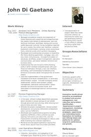 Assistant Vice President Resume Samples