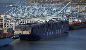 100 Shipping Containers San Francisco Biggest Ship Ever To Sail Into SF Bay Arrives Thursday