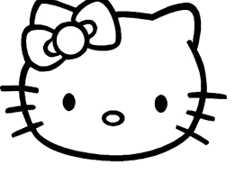 Hello Kitty Face Printable Coloring Pages