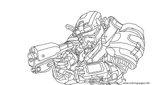 Halo Reach Spartan Coloring Pages Printable