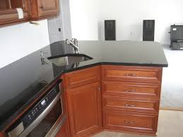 Corner Sink Kitchen Design by Corner Kitchen Sinks Stained Wood Valance Just A 1x8 Cut Stained