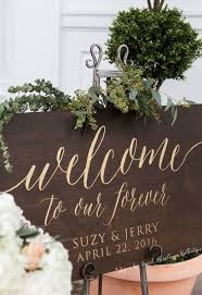 Welcome To Our Forever Wedding Sign