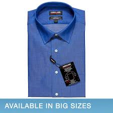 kirkland signature men u0027s tailored fit dress shirt blue diamond