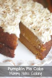 Decades of Desserts} Pumpkin Pie Cake Mommy Hates Cooking