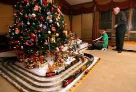 Train Set Under Christmas Tree Rainforest Islands Ferry Regarding