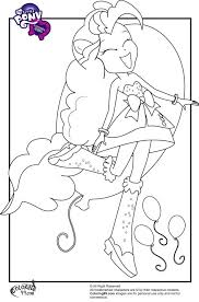 Mlp Colouring Pages My Little Pony Fluttershy Pinkie Pie Girls Coloring Twilight Sparkle
