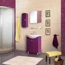 salle de bain mauve mobilier salle bain mauve carrelage mural beige et carrelage sol