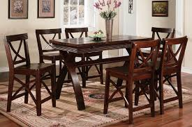 Charming Dark Cherry Wood Furniture Modest Design Dining Room Set Projects Ideas