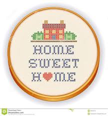 Embroidery, Home Sweet Home Cross Stitch Stock Vector - Image ... Home Sweet Designs Design Ideas Christmas Free Photos Embroidery Cross Stitch Stock Vector Image New Cyprus Guide Beautiful Gallery Interior Martinkeeisme 100 Images Lichterloh Stitched Decoration With Border Stock Stunning Pictures Decorating Mannahattaus Travertine Dream House By Wallflower Architecture