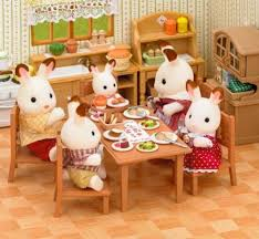 Epoch Sylvanian Families Family Furniture Dining Table Set Ka 412 Japan Import Amazonfr Jeux