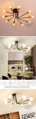 amerikanischen vintage decke lichter esszimmer wohnzimmer le moderne decken beleuchtung tavan aydinlatma schmiedeeisen retro leuchten
