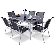 Amazon.com: LordBee Silver Black 7 Piece Durable Garden Patio ... Sofia Imaestri Marseille Transitional Upholstered Seat And Back Ding Side Chair By Steve Silver At Wayside Fniture Shollyn Uph 4cn Colette Velvet Violet Grey Silver Ding Room Hollywood Homes Elegant Exquisite Workmanship Series Room Round Tabelegant Table And Chairsbf0104009 Buy Setantique 25 Gray Ideas Bella 5piece Kitchen Set Silverlight Grey Chairs New Fascating Black Sets Vergara Paris 5 Pc 1958 Glam Elegance Del Sol Home Bevelle 18 Inch Leaf