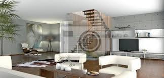 offenes wohnzimmer bilder myloview